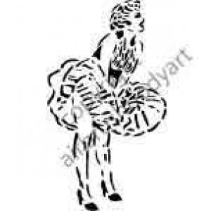0279 marilyn monroe reusable stencil